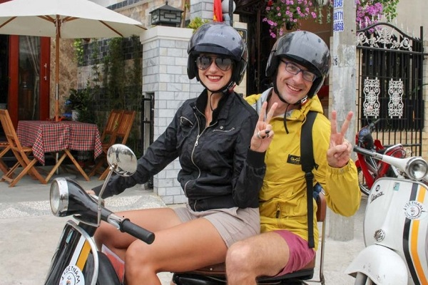 Ride a motorbike in Hanoi