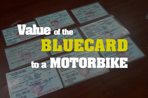 Register a motorbike blue card Vietnam